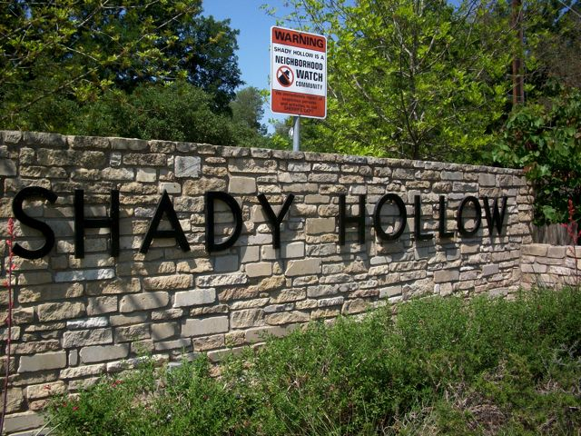 shady hollow sign.JPG The History Of Shady Hollow Austin